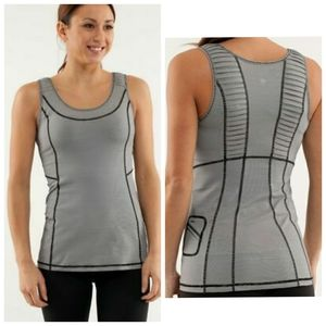 LULULEMON striped running tank